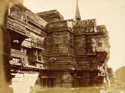 Temple of Kali at the Hira Gate, looking to the right, Dabhoi